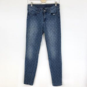 GAP Super Skinny Stretch Polka Dotted Jeans